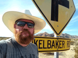 Me at the Route 66 / Kelbaker Road sign.